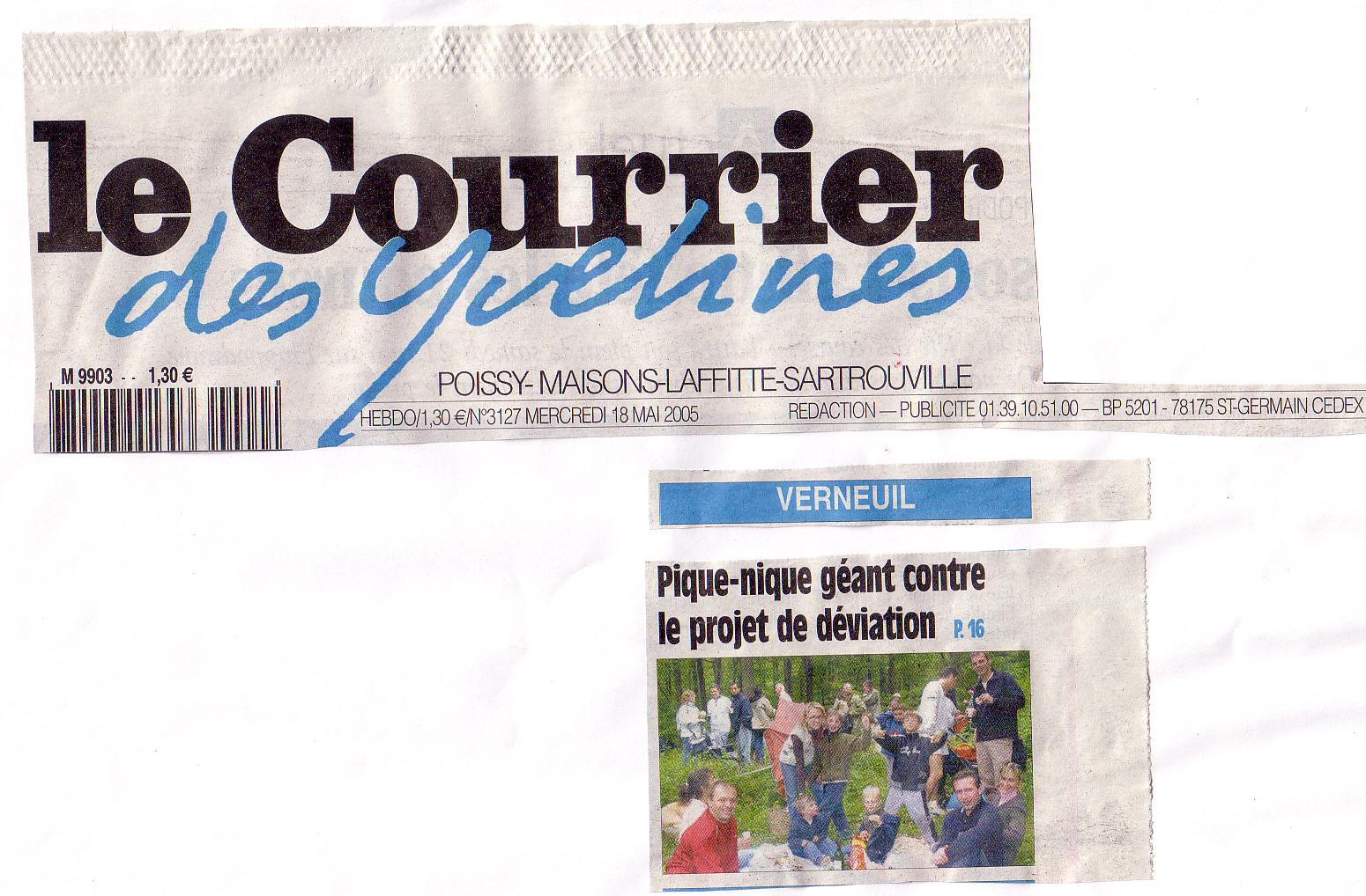 La presse en parle adiv environnement for Pique nique yvelines