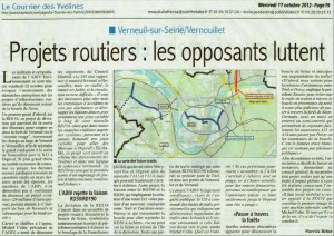 projets routiers courrier des yvevlines 17 octorbre 2012