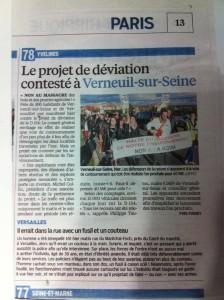 Manifestation RD154 le parisien 15 novembre 2014