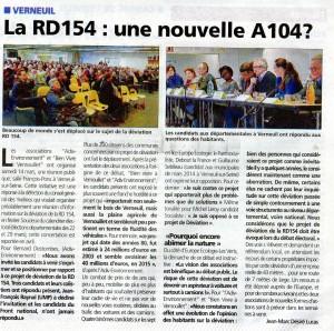 Article du courrier des Yvelines du 18 mars 2015