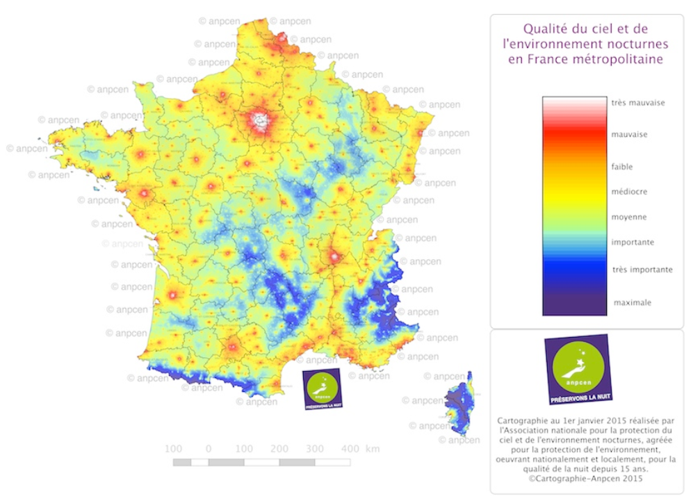 carte france qualité du ciel