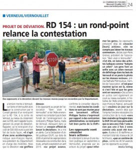 courrier des Yvelines 29 juillet 2015 rond point RD154